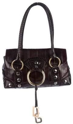 Dolce & Gabbana Embossed Leather Shoulder Bag