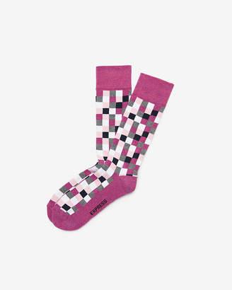 Express Cushioned Check Dress Socks