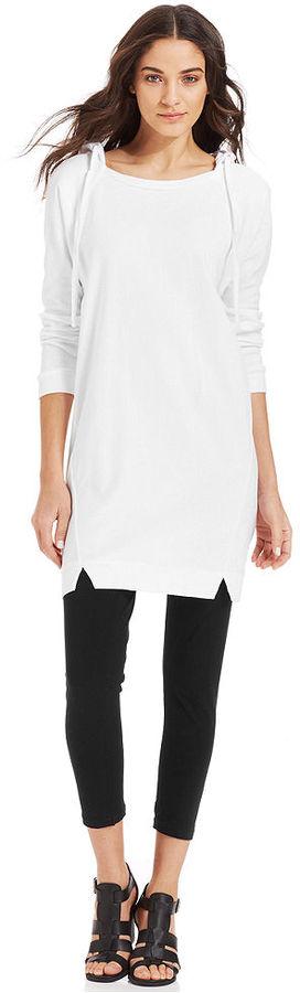 DKNY Hoodie Sweatshirt Tunic Dress