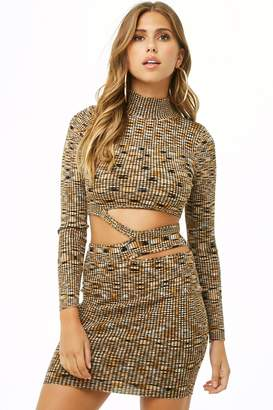 Forever 21 Cutout Marled Bodycon Dress