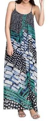 Nic+Zoe Bloom Me Away Printed Maxi Dress