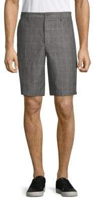 Robert Graham Windowpane Check Linen Shorts