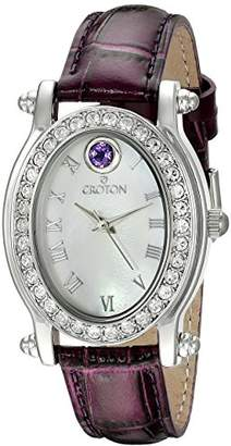 Croton Women's CN207537PPMP Balliamo February Birthstone Analog Display Quartz Watch