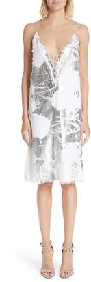 Calvin Klein x Andy Warhol Foundation Foil Flowers Slipdress