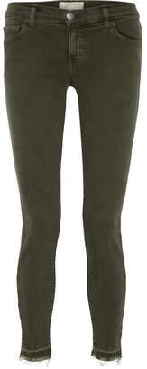 Current/Elliott The Stiletto Frayed Mid-rise Skinny Jeans - Green