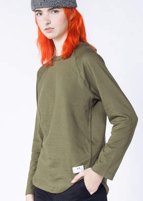 WildFang Muttonhead Reversible Base L/S Army Green Tee   Reversible Base LS Tee - ARMY GREEN - LARGE