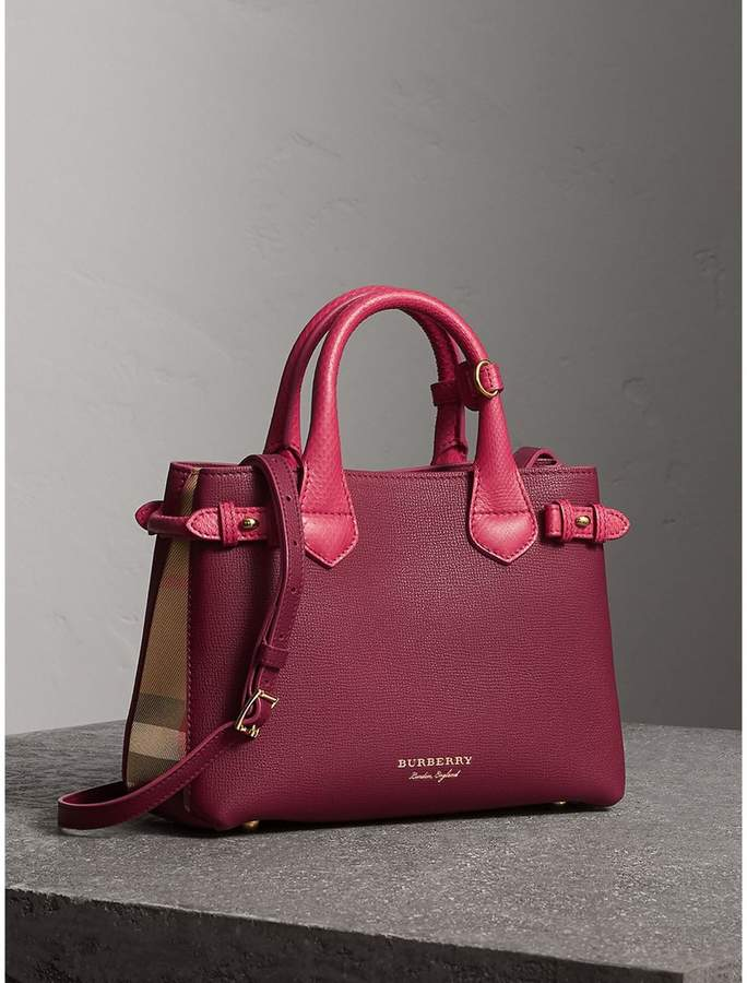 Burberry The Small Banner in Two-tone Leather