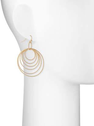 Lydell NYC Graduating Multi-Hoop Drop Earrings