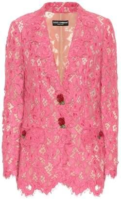 Dolce & Gabbana Floral lace blazer
