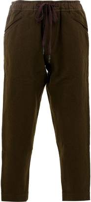 Ziggy Chen cropped wool trousers