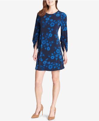 Tommy Hilfiger Legacy Floral Ruched-Sleeve Dress