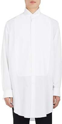 Alexander McQueen Men's Cotton Poplin Oversized Tuxedo Shirt
