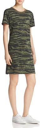 Current/Elliott The Beatnick Camo Print Tee Dress $148 thestylecure.com