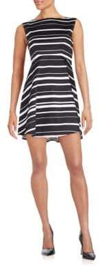 French Connection Joshua Striped Stretch Cotton Fit-&-Flare Dress