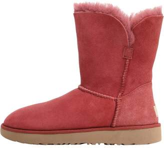 UGG Womens Classic Cuff Short Boots Red Clay