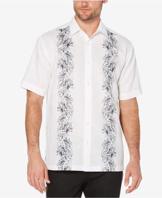 Cubavera Men's Big & Tall Tropical Panel Shirt