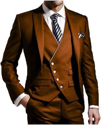 SETWELL Men Wedding Suits Groomsmen Groom Tuxedos Prom Suits 3 Pieces