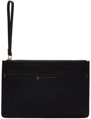 Giuseppe Zanotti Black Borsa Leather Pouch