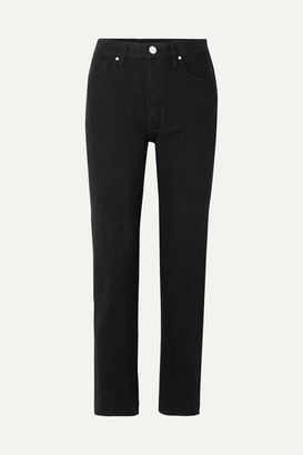 Gold Sign The Benefit High-rise Straight-leg Jeans - Black