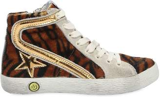 Golden Goose Slide Leather High Top Sneakers