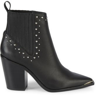 Kenneth Cole New York Bynona Studded Leather Western Booties