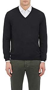 Barneys New York Men's Wool V-Neck Sweater - Black
