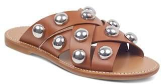 Marc Fisher Women's Raidan Leather Stud Slide Sandals