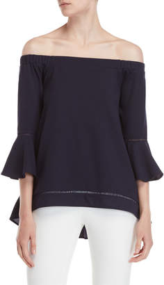 Essentials By Milano Off-the-Shoulder Bell Sleeve Top