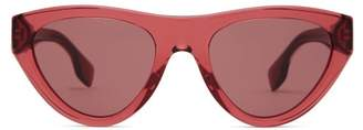 Burberry Cat Eye Acetate Sunglasses - Womens - Red