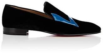 Christian Louboutin Men's Dandylove Velvet Venetian Loafers