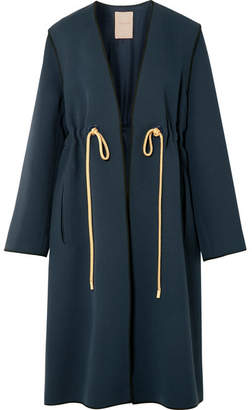 Roksanda Fleur Cady Coat - Midnight blue