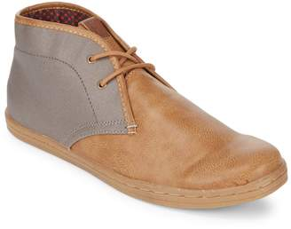 Ben Sherman Victor Faux Leather Chukka Boots