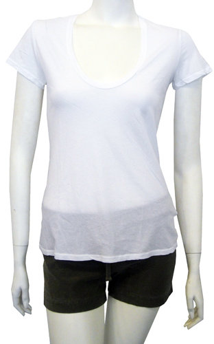 James Perse Relaxed Casual Tee In White