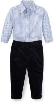 b3363d518b4c at Orchard Mile · Ralph Lauren Kids Plaid Poplin Shirt Pant Set