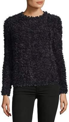 Max Mara Women's Bleu Textured Crewneck Sweater