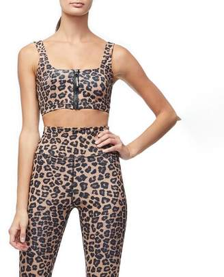 Good American Cheetah Sports Bra - Women's