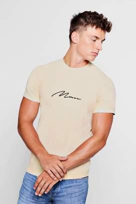 boohoo Man Signature Washed T-Shirt