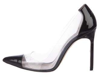Manolo Blahnik PVC Cap-Toe Pumps