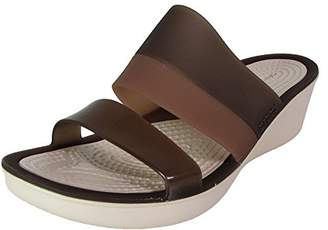 Crocs Women's Color Block Wedge W Wedge Sandal