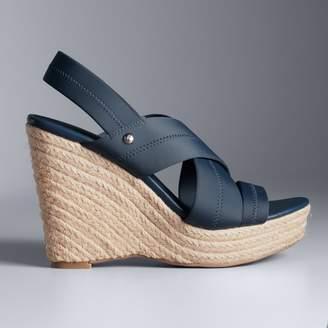 Vera Wang Simply Vera Gratitude Women's Espadrille Wedge Sandals