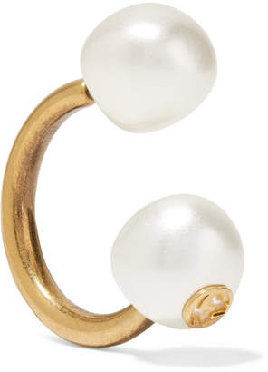 Gucci Gold-plated Faux Pearl Earring