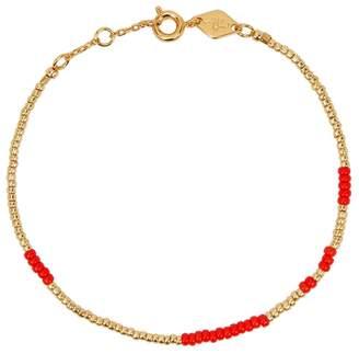 Anni Lu ANNI LU Aysm 18ct Gold-plated Beaded Bracelet