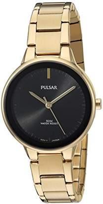 Pulsar Women's Quartz Brass and Stainless Steel Dress Watch
