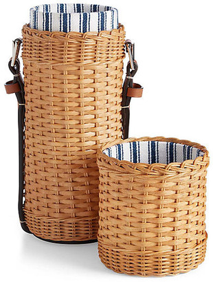 Ralph Lauren Home Bailey Wine Tote - Saddle/Wicker