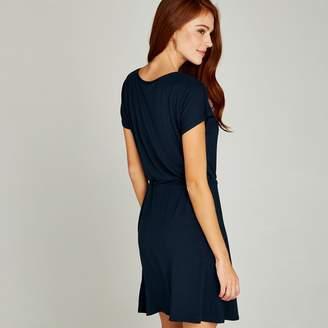fef0cf3188771 Apricot Navy Toggle Waist Jersey Dress