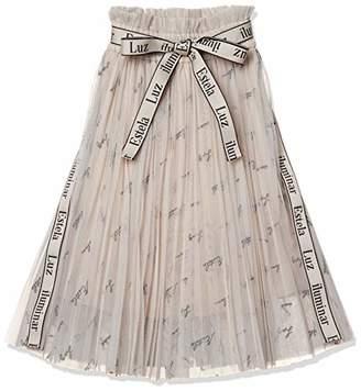 Snidel (スナイデル) - [スナイデル] GIRLロゴ刺繍チュールスカートSKFS185133 SKFS185133 ガールズ BEG 日本 130 (日本サイズ130 相当)