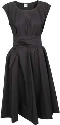 Aspesi Capped Sleeve Fitted Waist Dress