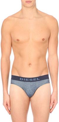 Diesel Denim-effect stretch-cotton briefs $23 thestylecure.com