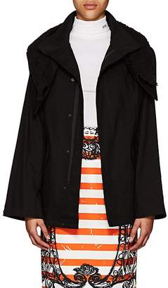 Yohji Yamamoto Regulation Women's Sherpa-Trimmed Cotton Canvas Jacket