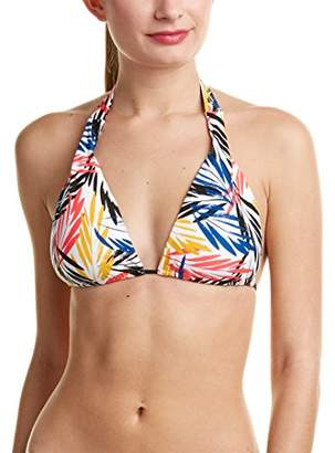 Shoshanna Women's Palm Leaves String Halter Bikini Top